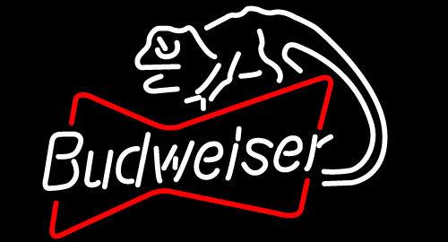 Budweiser louie lizard bowtie neon sign 16  x 16
