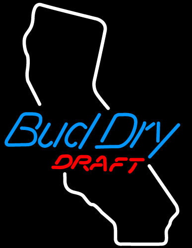 Budweiser Dry California Neon Sign