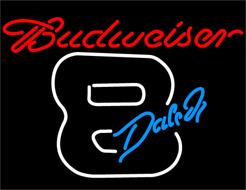 Budweiser dale jr. 8 neon sign 16  x 16