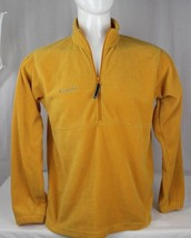 Columbia vintage men's fleece jacket half zip long sleeve yellow size M - $22.95