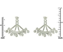 Pave Statement AAA Cubic Zirconia Rhodium Ear Jacket Earrings;HOT - $29.69