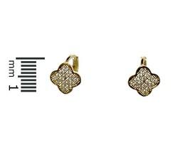 Dainty-Babies-Children AAA Cubic Zirconia GEP Clover Hoop Huggie Earrings - $19.79