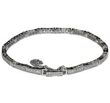 Micro Pave 16 Station Square Link Cz Tennis Bracelet Fancy Lock Bridal - $44.55
