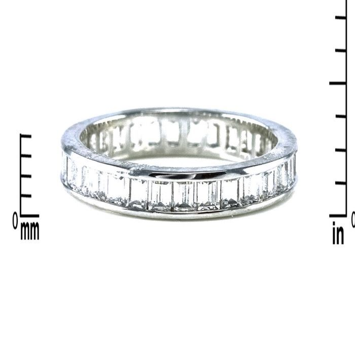 Radiant Emerald Cut Cubic Zirconia 4MM All Around Eternity Band Ring