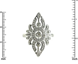 Glitzy Pave AAA Cubic Zirconia Filligree Style Rhodium Knuckle Ring - $34.99