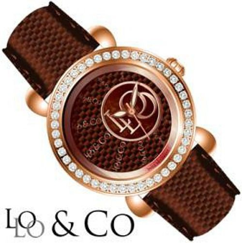 LoLo & Co Designer Watch - Tragic- Crystal with Swiss Movement-SALE-Brown