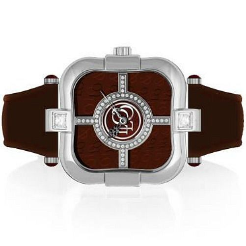 LoLo & Co Designer Watch -Fantasy- Crystal with Swiss Movement-SALE-Brown