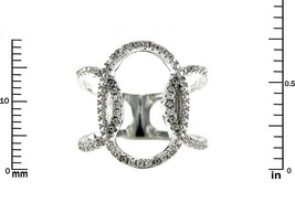 Glitzy Pave Clear AAA CZ Open Endless Circle Knuckle Ring -Rhodium Plated - $39.99