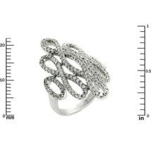 Glitzy Pave Clear AAA Cubic Zirconia Open Knot Knuckle Ring-Rhodium Plated - $39.99