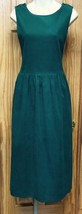 NWOT Womens (Sz 12)Jennifer Moore Teal Green Corduroy Jumper Long Dress Size 12 - $24.37