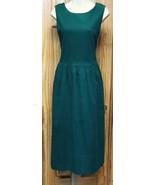 NWOT Womens (Sz 12)Jennifer Moore Teal Green Corduroy Jumper Long Dress ... - $24.37