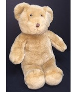 "Classic Build-A-Bear Plush Light Brown Bear 15"" With Turquoise Earrings - $14.23"