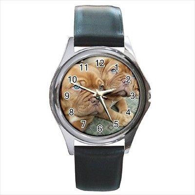 Dogue De Bordeaux Square Round & Square Leather Strap Watch