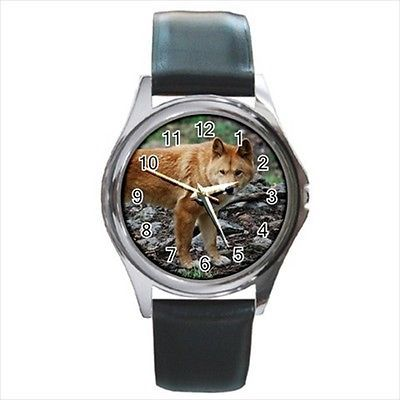 Dingo Square Round & Square Leather Strap Watch - Dog Puppy