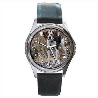 English Foxhound Square Round & Square Leather Strap Watch - Dog Puppy