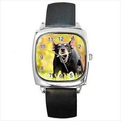 Jagdterrier Square Round & Square Leather Strap Watch - Dog Puppy