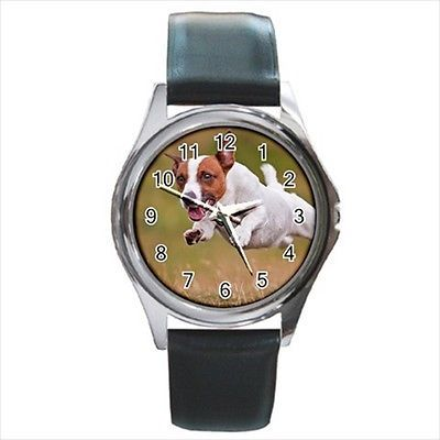 Jack Russell Terrier Square Round & Square Leather Strap Watch - Dog Puppy