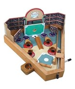PINBALL BASEBALL GAME WOODEN TABLETOP SPORT GAME SPRING LOADED TRAVEL DE... - $22.65
