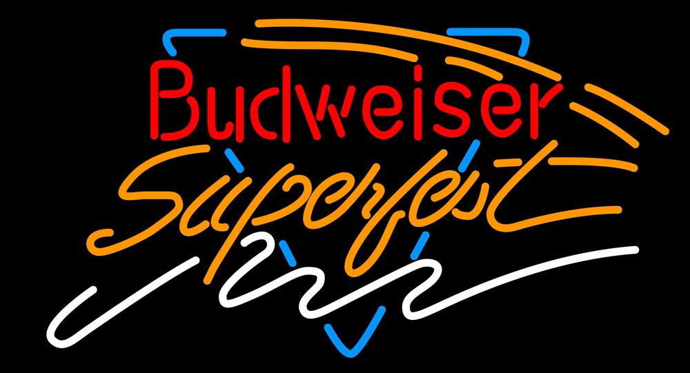 Budweiser super fest neon sign 16  x 16