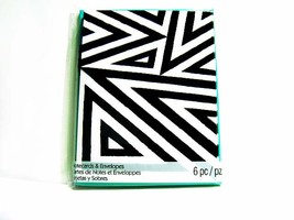Graphic White Black Angles - Notecards - Blank Note Cards - $2.00