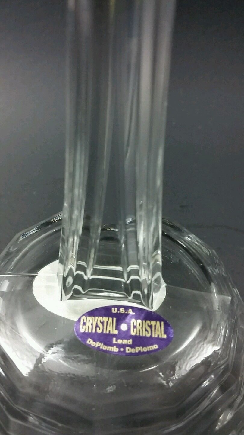 Glass cross 24 % lead crystal made in USA