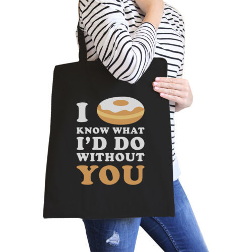 I Doughnut Know Eco Bag Funny Gift Ideas For Doughnut Lovers - $15.99