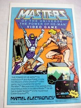1984 Color Ad Masters of the Universe The Power of He-Man Video Game Mattel MOTU - $7.99