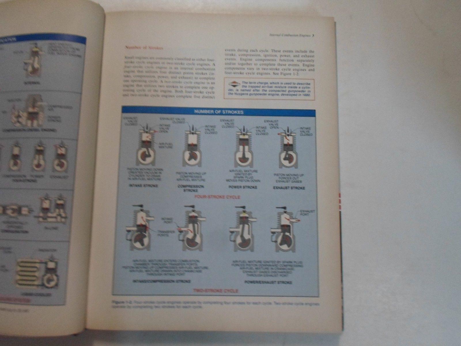 1998 Briggs & Stratton Klein Motoren Manuell Hardcover Buntes Fabrik OEM