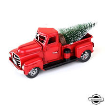 Red Metal Truck Christmas Party Decoration Table Top Decor for Home Kids... - €21,13 EUR