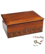 Extra Large Wood Box Polish Handmade Wooden Jewelry Box Keepsake Lock an... - $79.19