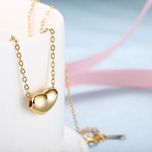 Women Love Heart Chain Necklace Crystal 18K Rose Gold Plated Swarovski F... - $201,86 MXN