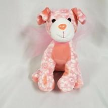 Toys R Us Stuffed Plush Pink Flower Rhinestone Stuffed Plush Puppy Dog 2013 Bow - $98.99