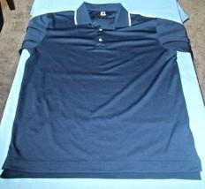 Foot joy Men's Navy Blue Golf Short Sleeve Polo Size XL - $19.57
