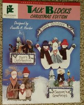 Talk Blocks Christmas Edition Holiday By Janelle A Harder Tole Painting ... - $7.98