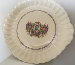 Vintage Edward VIII Coronation China Cake Plate May 12 1937 Sovereign Po... - $22.99