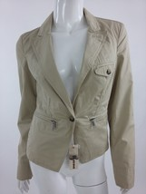 Diesel New Women's G-Lou Long Sleeve Jacket Size XS Color Ivory - $77.07