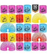 Mega Pack Of 50 Coil Springs - Assorted Emoji Silly Faces And Colors, M... - $34.16