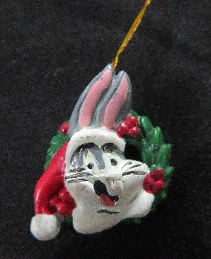 "Primary image for Mini Christmas Tree Ornament Bugs Bunny 3/4"" Inch Tall 90s WB Warner Bros"