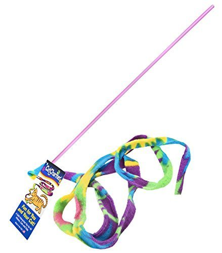 Cat Dancer Cat Toy Cat Charmer Safe Wand Teaser Colorful Fabric Ribbon Safe Flex