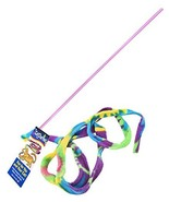Cat Dancer Cat Toy Cat Charmer Safe Wand Teaser Colorful Fabric Ribbon S... - $6.32