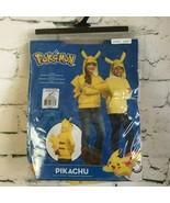 Pokemon Pikachu Size TWEEN SMALL Hoodie Jacket Kids Halloween Costume Ta... - $22.23