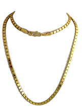 "Indian Bollywood Gold Plated 30"" Long Box Chain Wedding Necklace Fashion Jewelry image 1"