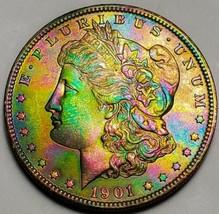 1901 O LUSTER RAW  MORGAN SILVER DOLLAR . KEY DATE  522 - $93.10