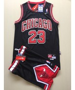youth Chicago Bulls #23 jordan basketball suit black jersey.jpg - $44.66