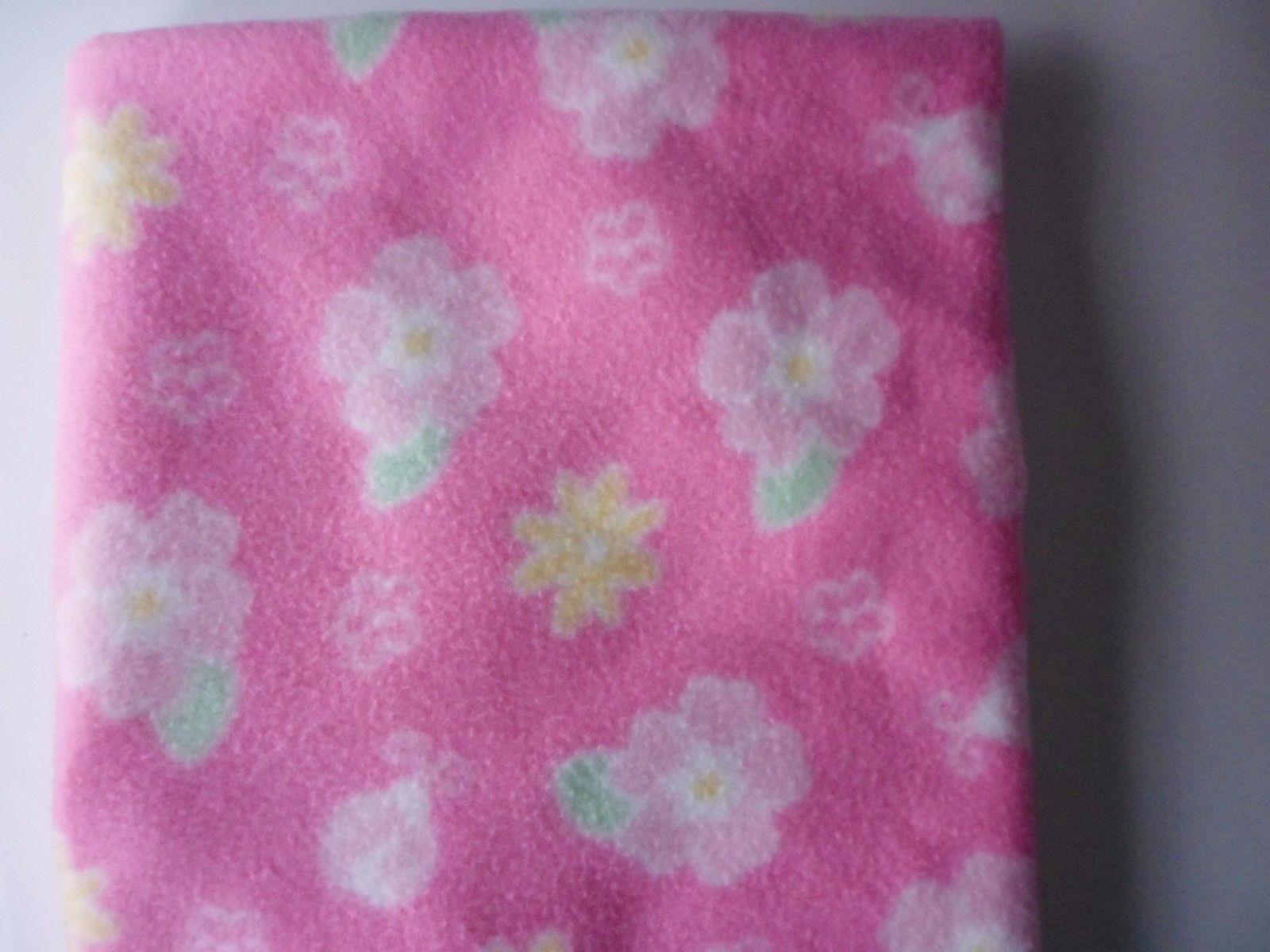 Parents Choice Pink Floral Flowers Baby Blanket Ladybug Soft Plush