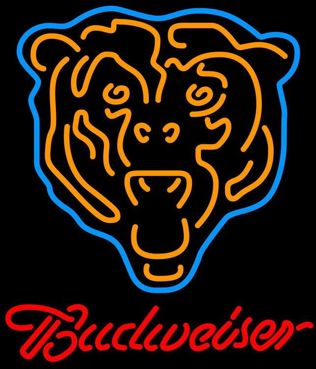 Nfl budweiser chicago bears neon sign 16  x 16