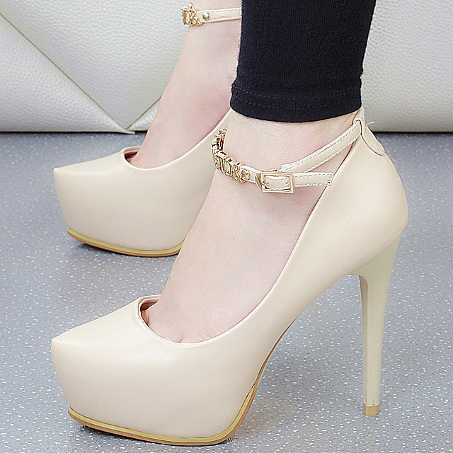 PP071 Sweet characters strappy pumps, slim heels,size 34-38, gold