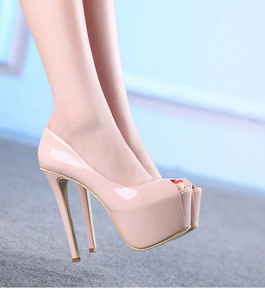 PP072 Luxury extra high heels and platform candy pumps,size 34-39, black
