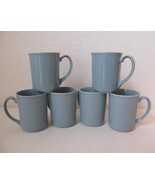 Set/ 6 Corning Corelle Mugs Cups Blue Lily Ceramic Stoneware 8 0z USA Coffee Tea - $23.01