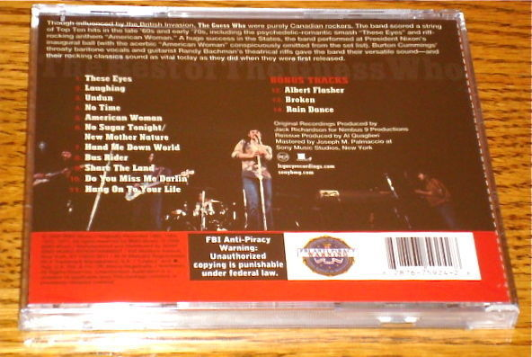 THE GUESS WHO THE BEST OF THE GUESS WHO CD SEALED !
